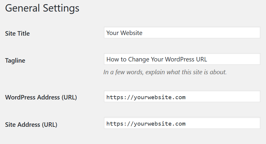 How To Change URL Of Your WordPress Site