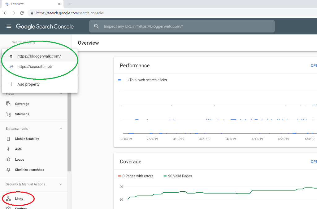 how to check backlinks in google search console